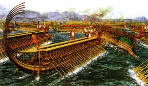 Битва при Саламине. Греки