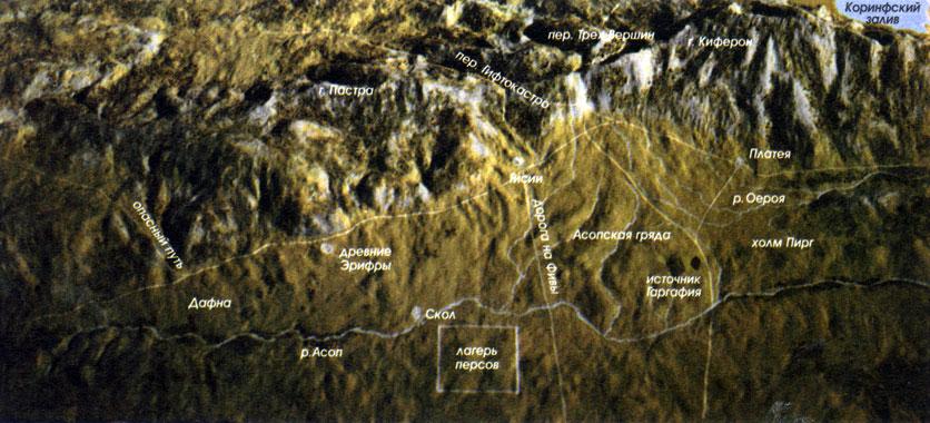 Схема верхней части долины