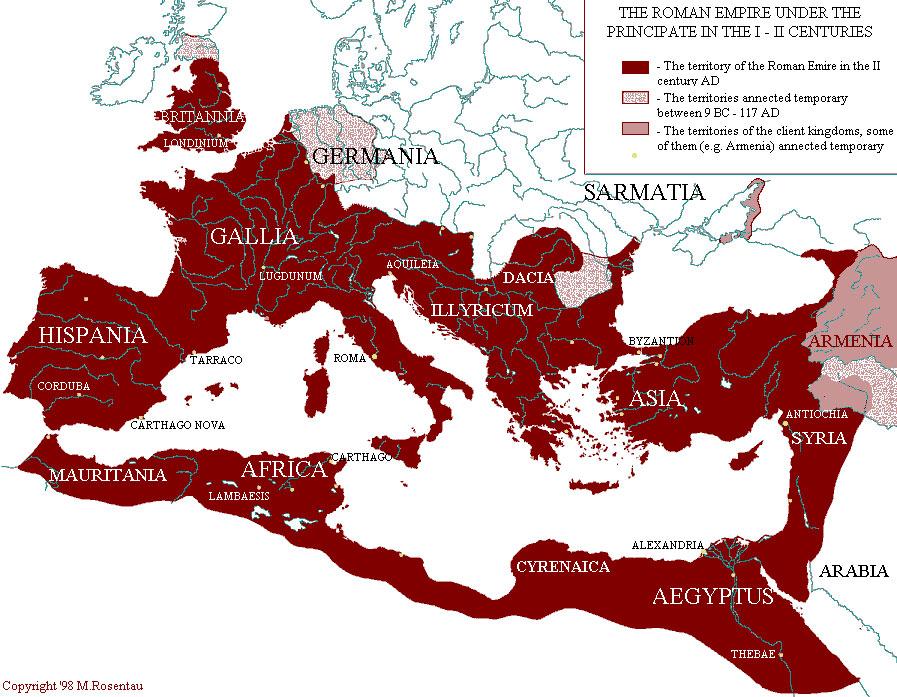 Римской империи на пике ее могущества