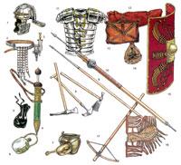 Вооружение и снаряжение римского пехотинца