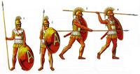 Гоплит IV в. до н.э., который упражняется с оружием
