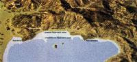 Северный берег Тразименского озера и часть Кортонской равнины